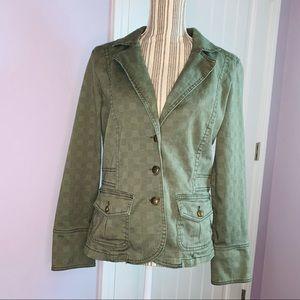 Gloria Vanderbilt Green Blazer Jacket size M